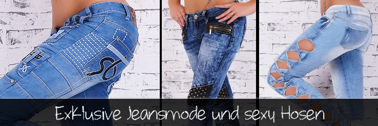 182840bc151d Trendstylez - Sexy Jeansmode - Skinnyjeans - Damen Hüftjeans ...