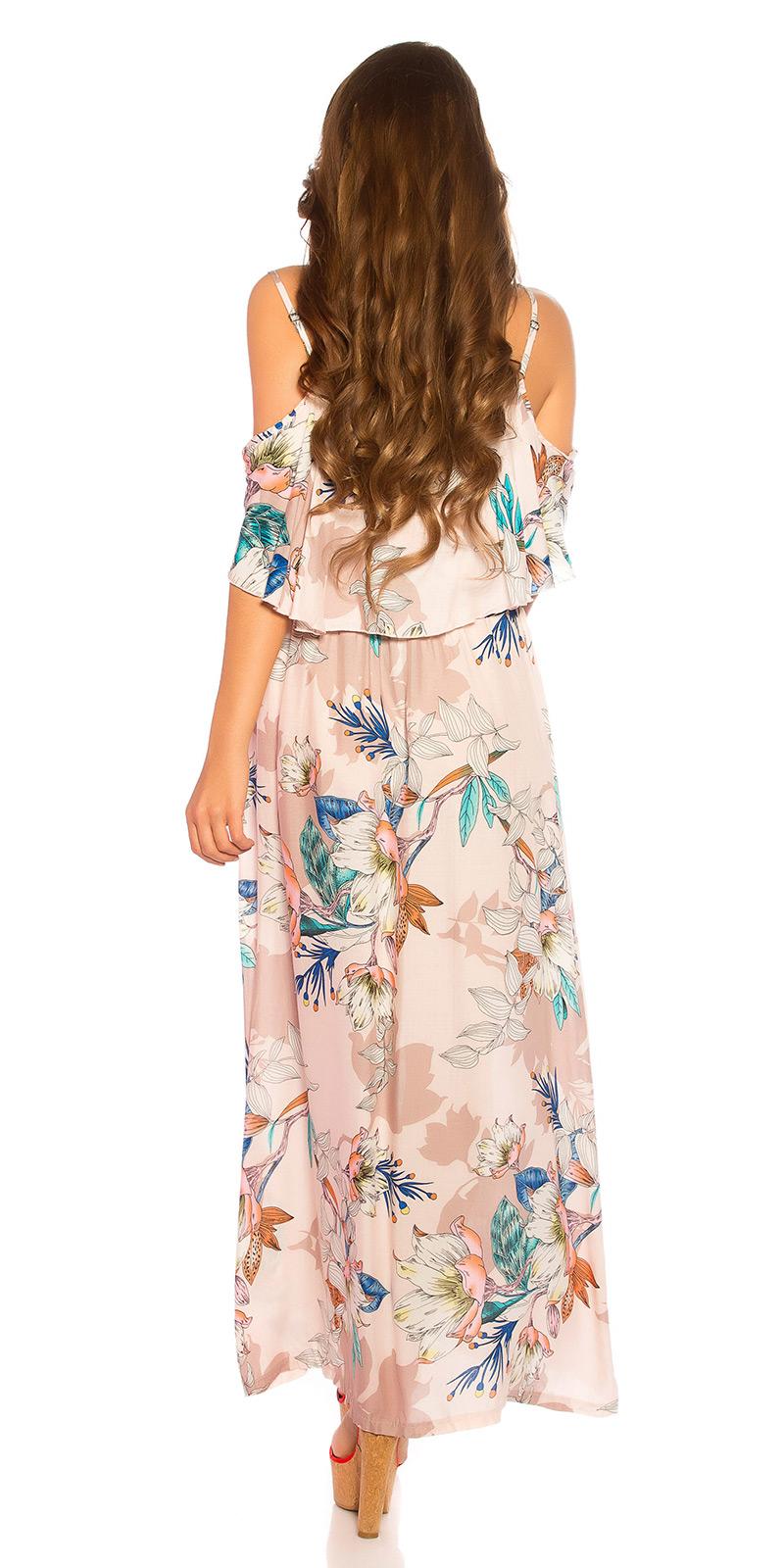 Trendstylez - Sommer Blümchen Maxi Kleid