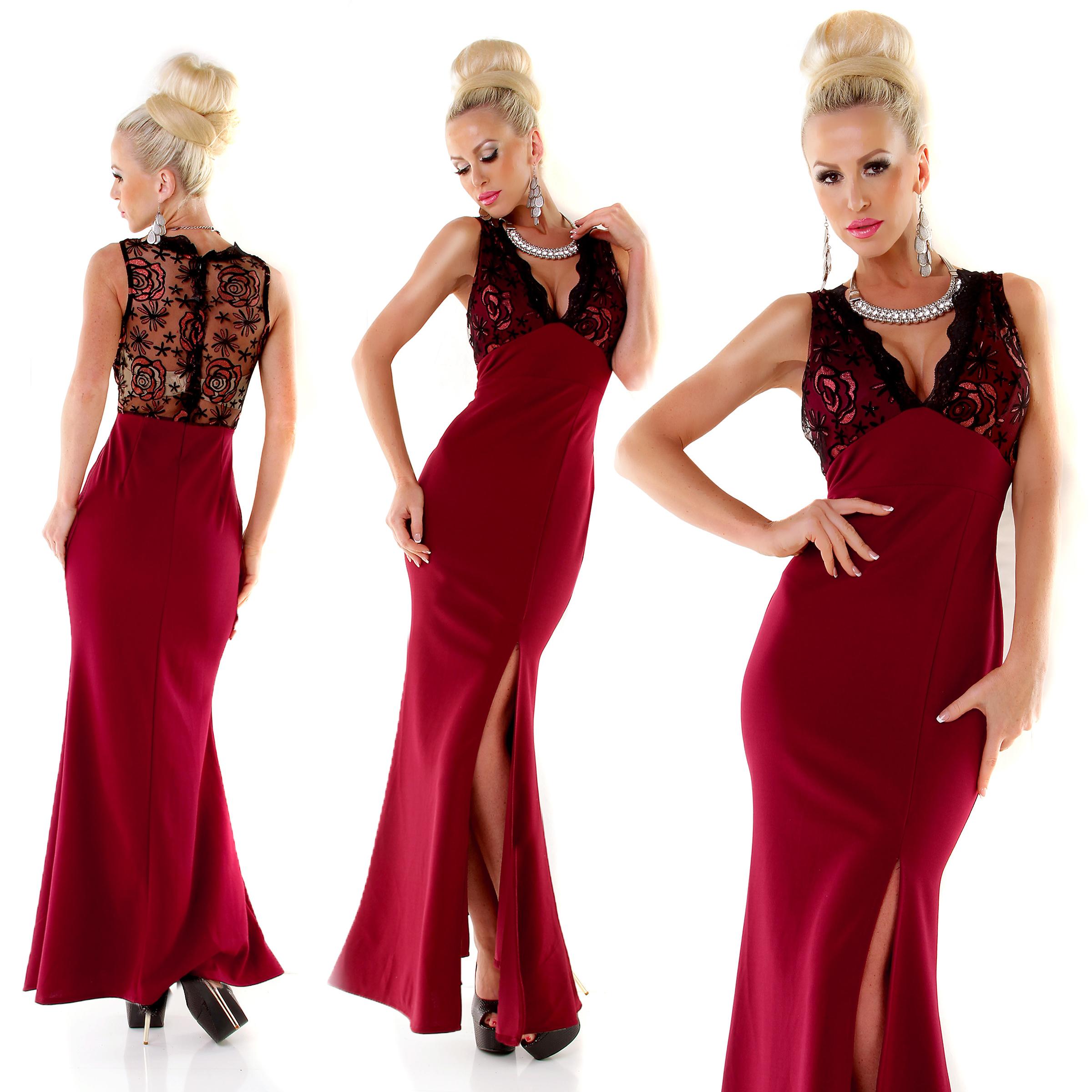 Trendstylez - Edles Cocktail-Kleid mit V-Ausschnitt