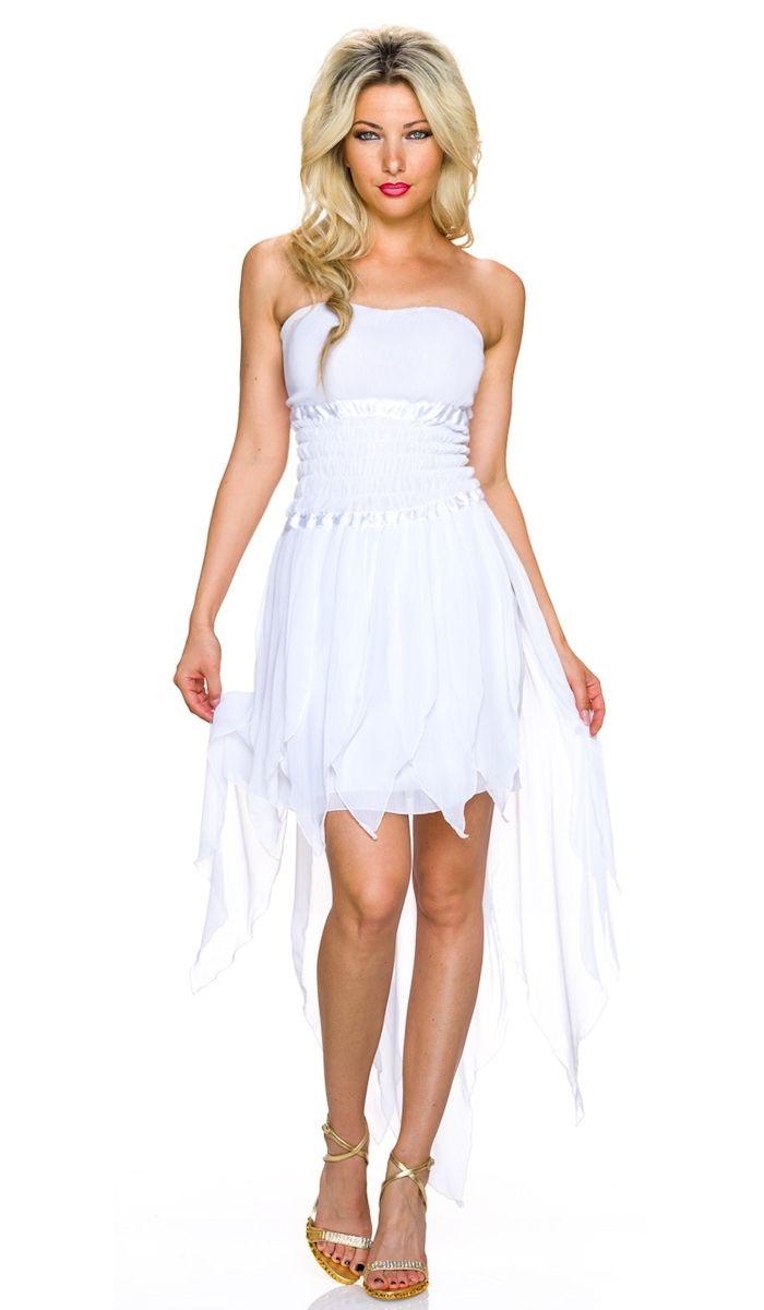 best cheap 4a197 149df Vokuhila Kleid mit modischen Zipfel-Abschluss - weiß