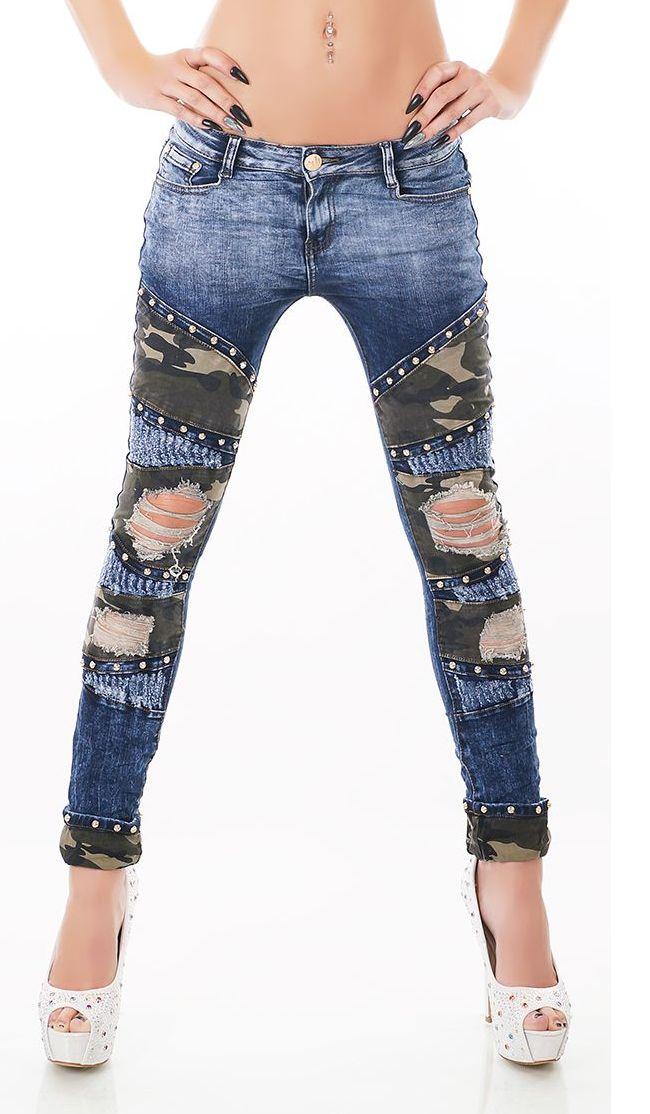 trendstylez vintage jeans mit strass nieten. Black Bedroom Furniture Sets. Home Design Ideas