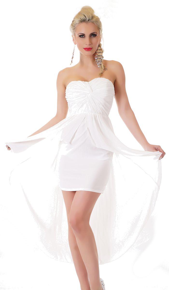 Trendstylez - Chiffon-Kleid im Vokuhila-Look