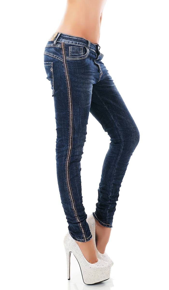 trendstylez baggy jeans mit glitzer bord re. Black Bedroom Furniture Sets. Home Design Ideas