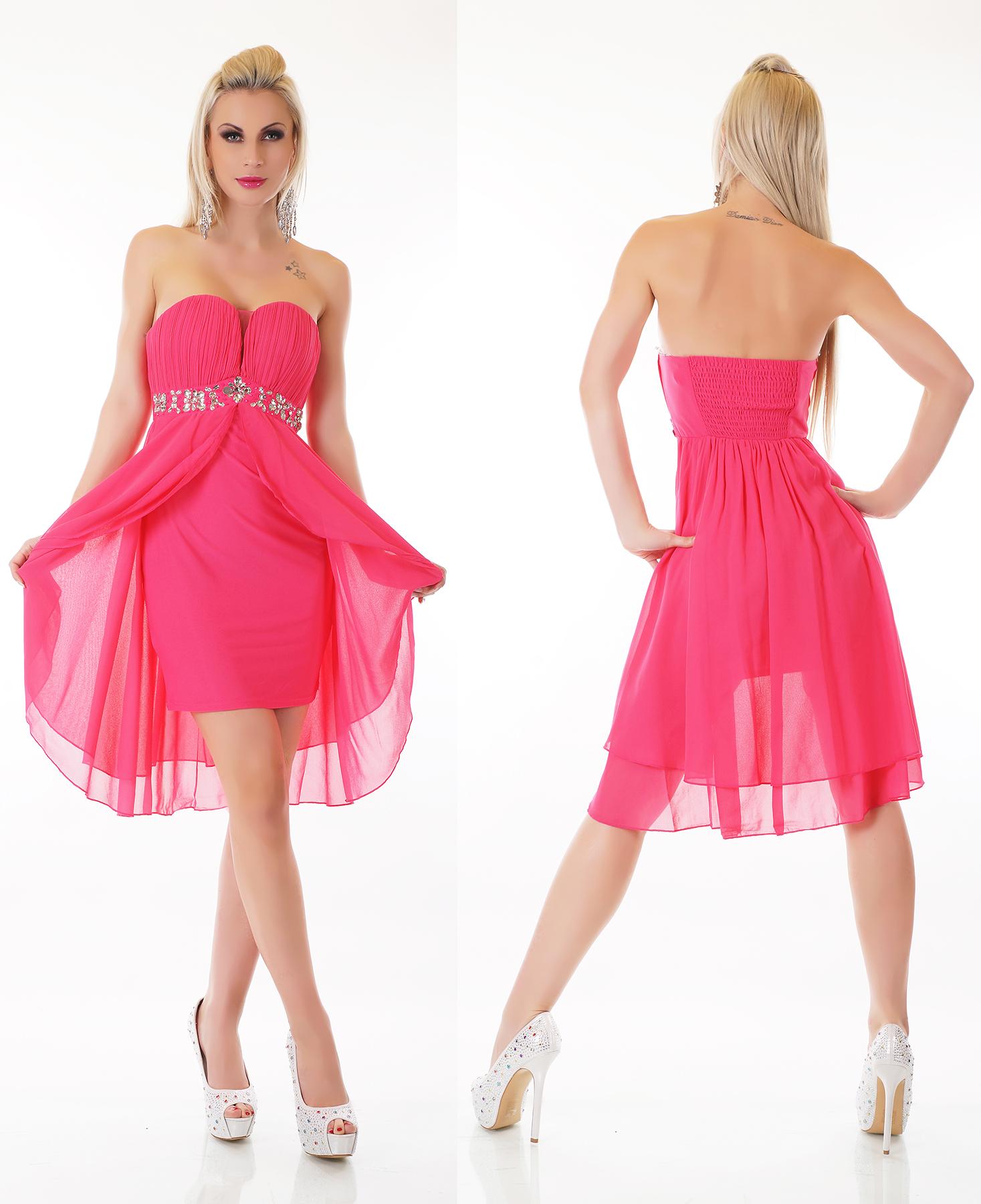 Kleid pink strass