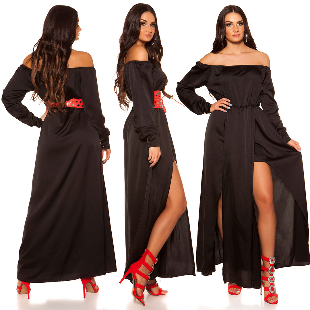 Trendstylez - Sexy Carmen Satin Abendkleid