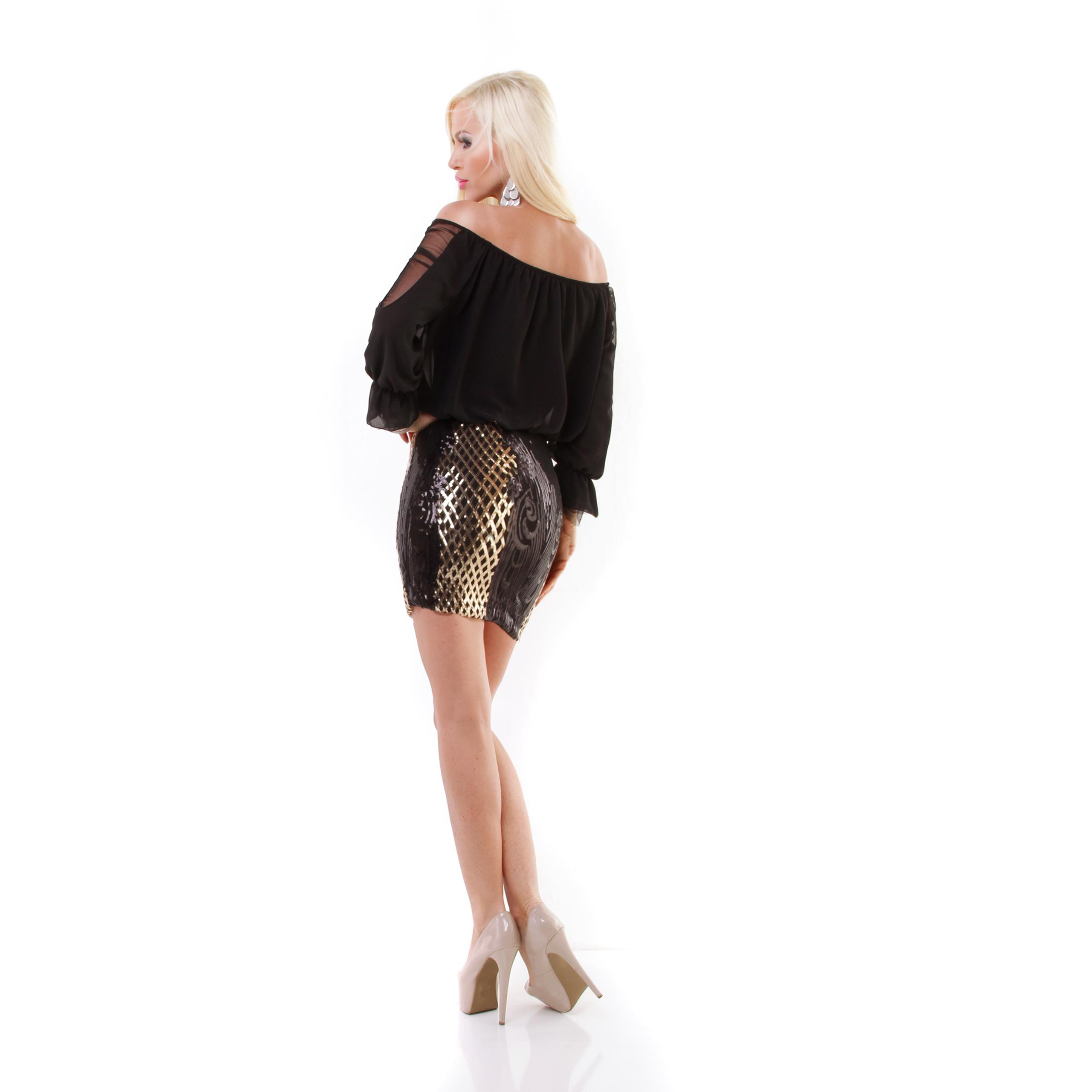 trendstylez sexy party minikleid mit pailletten. Black Bedroom Furniture Sets. Home Design Ideas