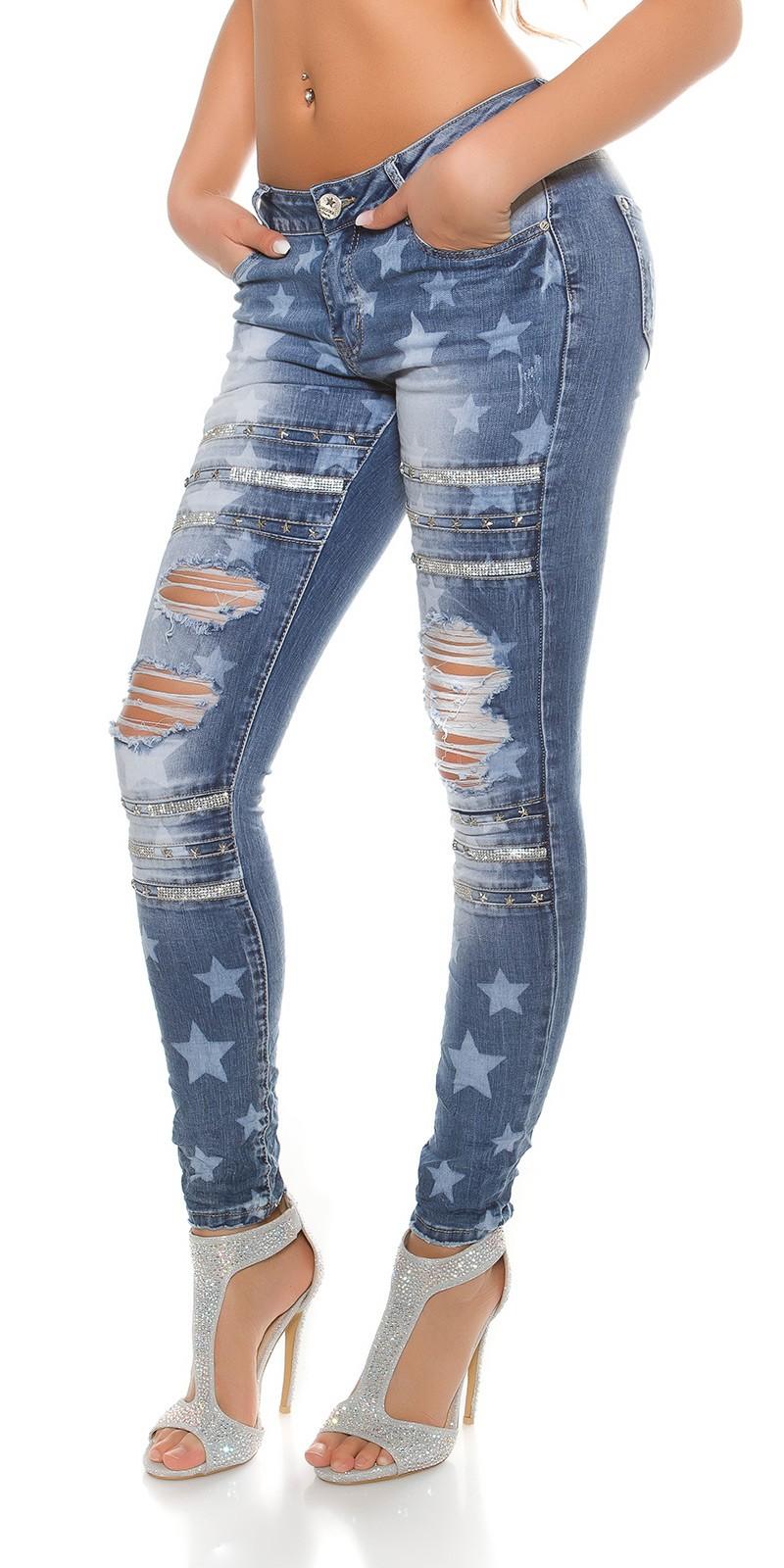 trendstylez vintage jeans mit bleach sternen. Black Bedroom Furniture Sets. Home Design Ideas