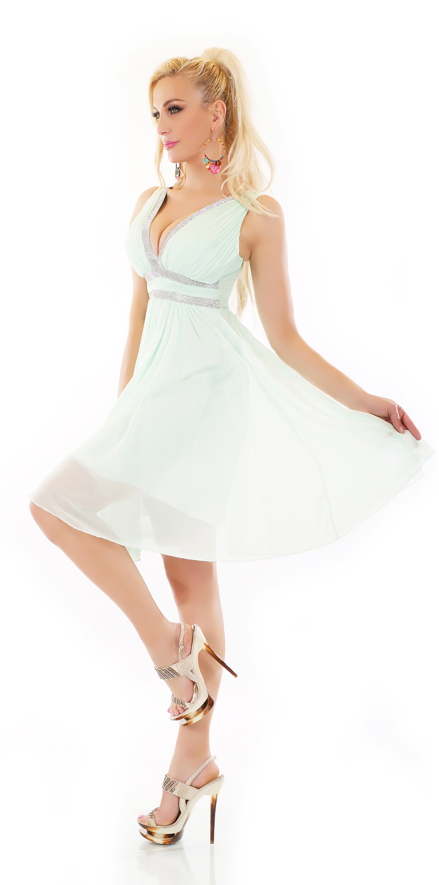 Trendstylez - Elegantes Chiffon-Kleid mit glamouröser ...