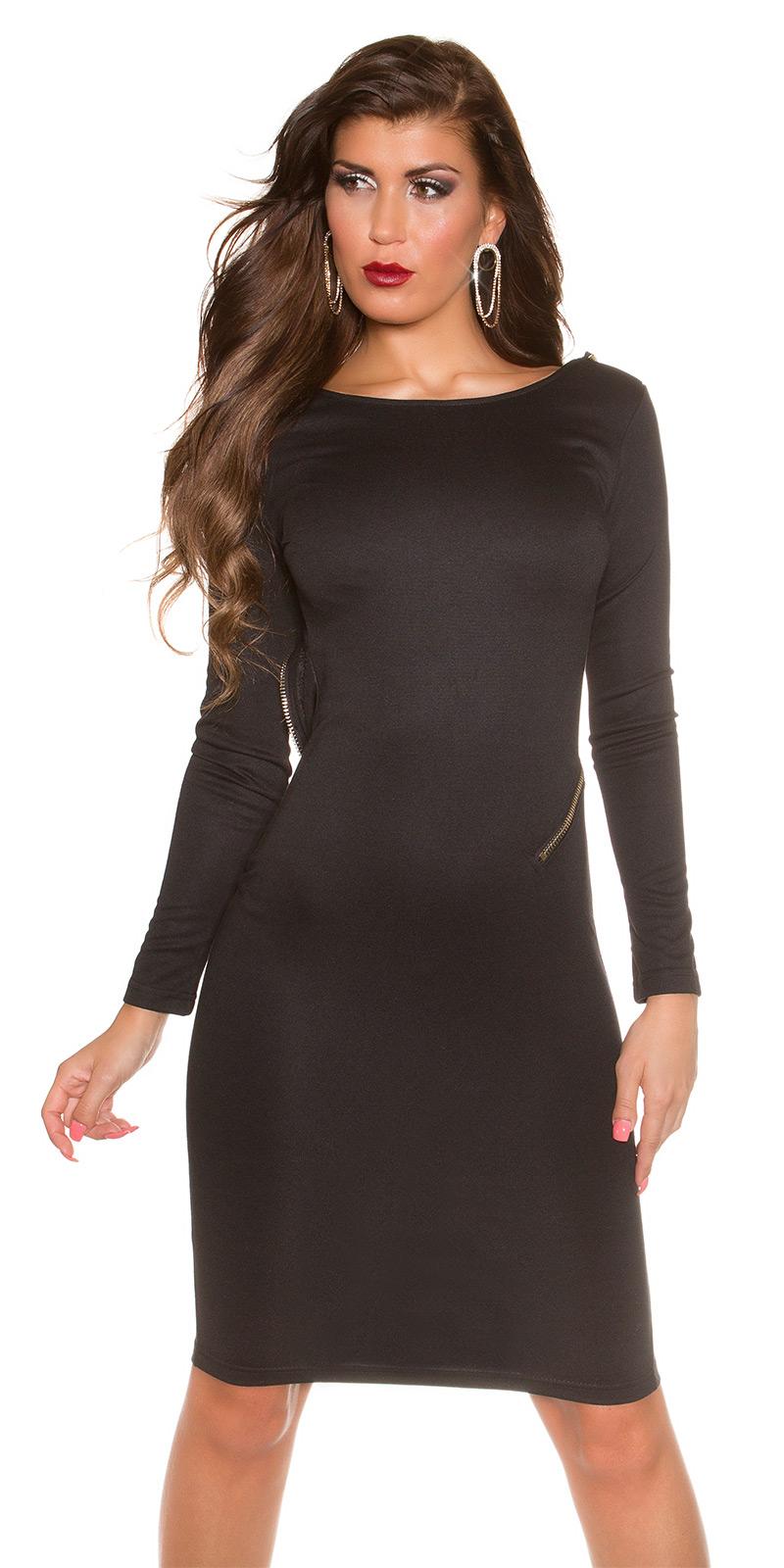 Trendstylez - Exklusives Kleid mit tuefen Rückenausschnitt