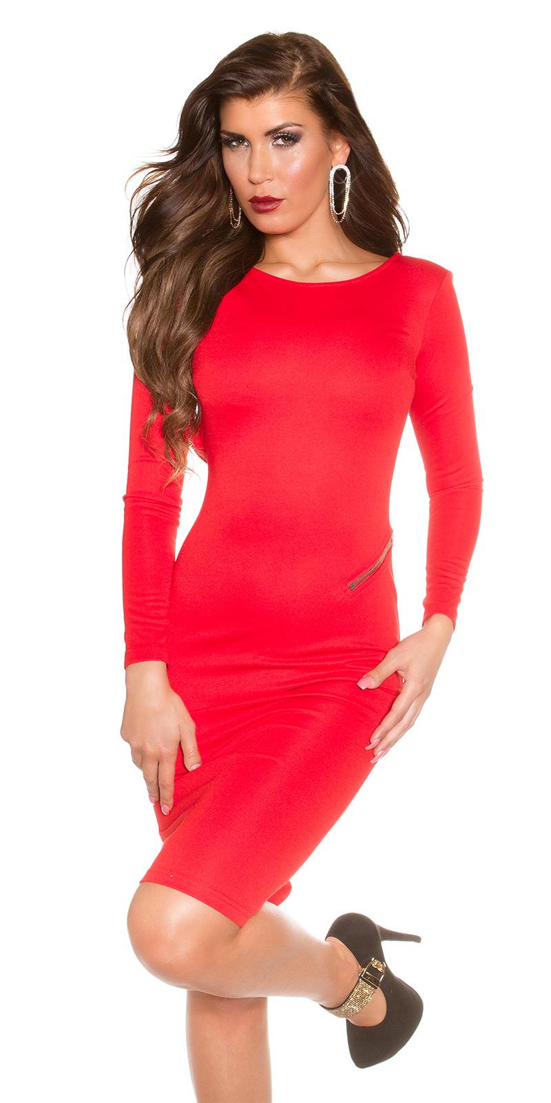 Elegantes kleid rot