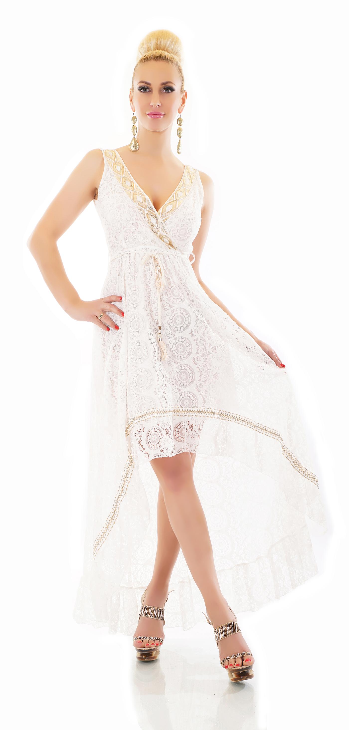 Trendstylez - Vokuhila Kleid aus Spitze