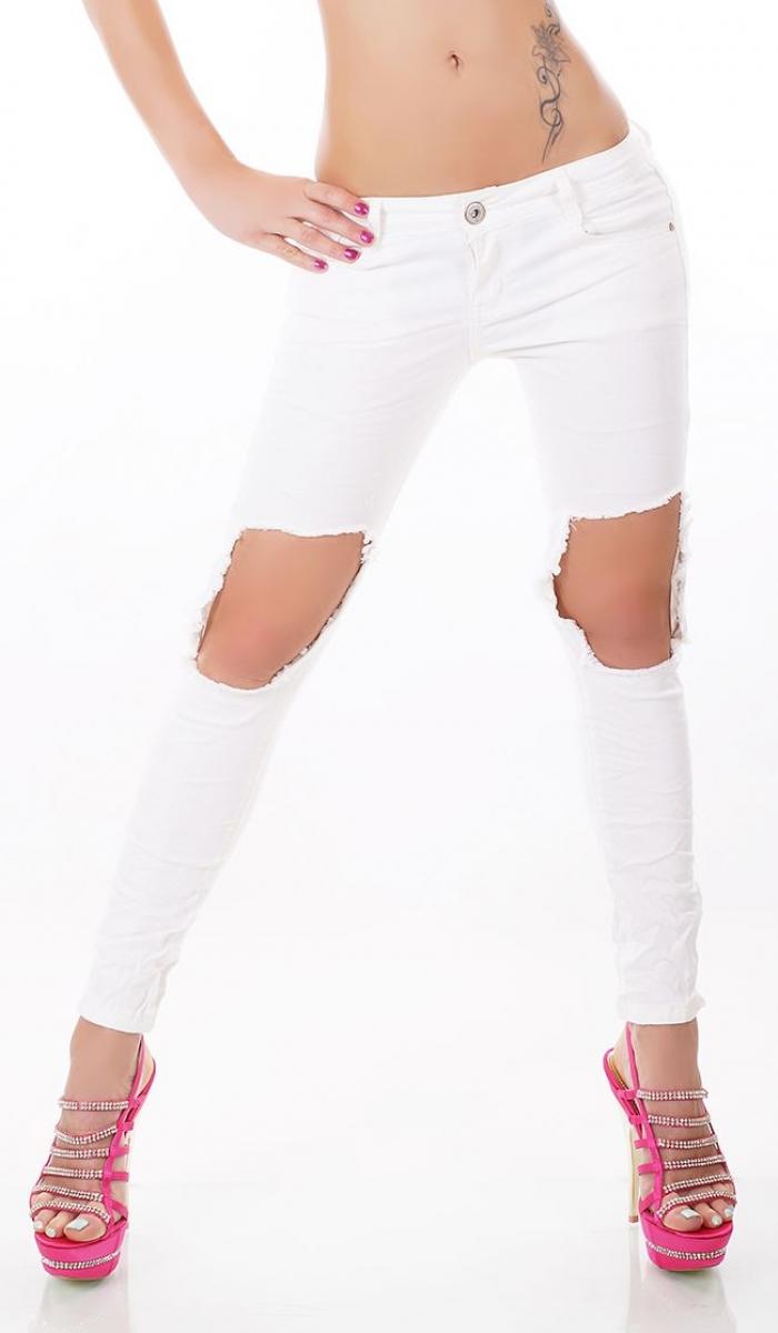 trendstylez slim fit skinny jeans mit rissen. Black Bedroom Furniture Sets. Home Design Ideas