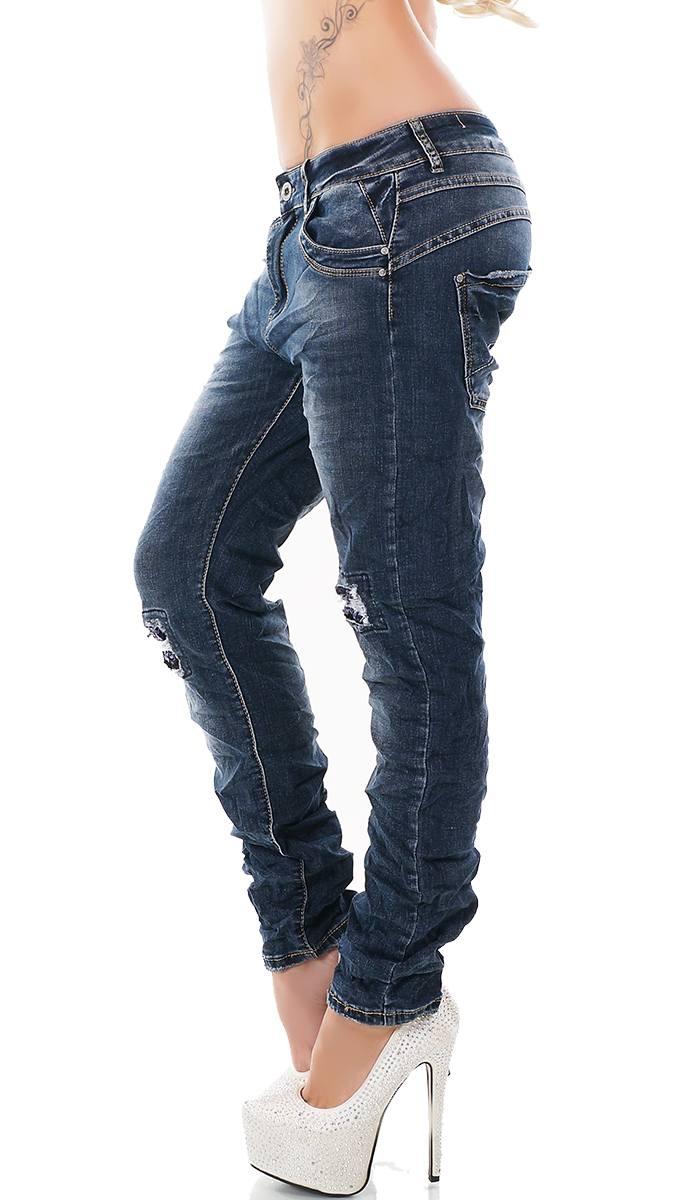 trendstylez baggy jeans mit pailletten patches. Black Bedroom Furniture Sets. Home Design Ideas