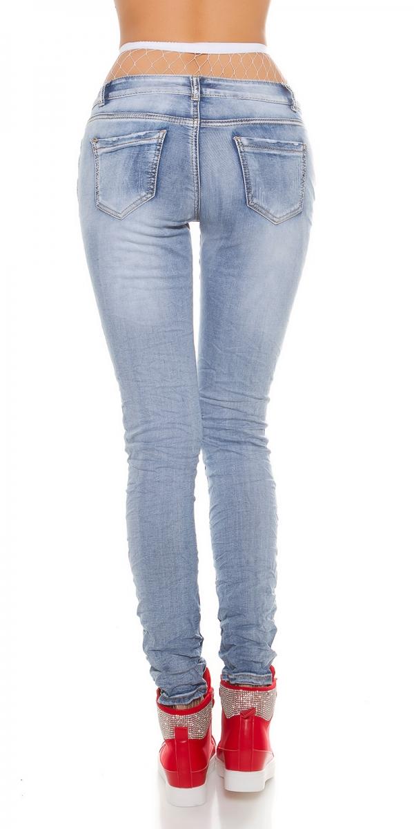trendstylez skinny jeans mit patches. Black Bedroom Furniture Sets. Home Design Ideas