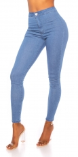 Moderne High Waist Stretchjeans in light blue