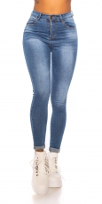 Push Up Skinny Jeans - blue washed