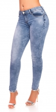 Stretch Jeans in modischer Waschung - blue washed