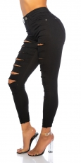 Sexy Skinny-Jeans im Destroyed-Look - schwarz