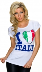 Fan-Shirt -Italia- in weiß