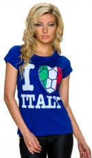 Fan-Shirt -Italia- in royalblau