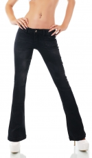 Stretch-Jeans im Bootcut-Style in vintage black