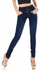 High Waist Skinny Jeans mit Shape-Effekt in dark blue