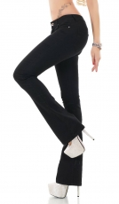 Damen Slim Fit Bootcut-Jeans mit sexy Push-Up-Effekt in schwarz