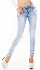 Sexy Push Up Skinny Jeans - light blue