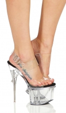 Sexy Plateau-High-Heels mit transparenter Sohle