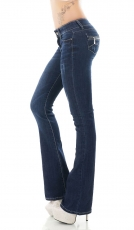 Modische Five-Poket Bootcut-Jeans in dark blue