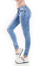 Sexy Push Up Skinny Jeans - blue washed