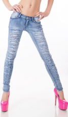 Sexy Skinny-Jeans mit aufregenden Vintage-Effekten in light blue
