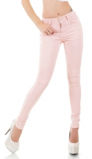 Modische Stretch Jeans in rosa