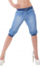 Freche Capri-Jeans im Pump-Style mit in light blue