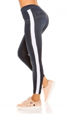 Thermo Leggings im Jeans-Look - blue washed