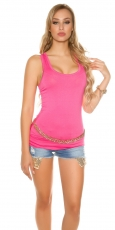 Modernes Basic Tank Top in pink