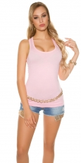 Modernes Basic Tank Top in rosa