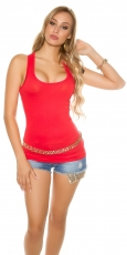 Modernes Basic Tank Top in rot