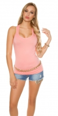 Modernes Basic Tank Top in lachs