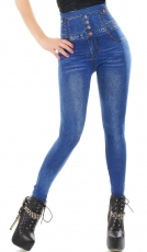 High Waist Leggings mit super Shape Effekt im Jeans-Look - blue washed