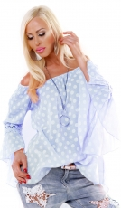 Oversize Tunika im Polka Dots Design - angelblue